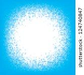 Round Pixel Frame. Background....