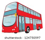 london red bus on white... | Shutterstock . vector #124750597