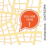You are here vector design - stock vector