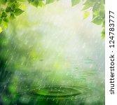 Summer Rain. Abstract Natural...