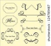 calligraphic design | Shutterstock . vector #124785487