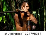typical huaorani hunter...   Shutterstock . vector #124798357