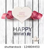 gift cards with ribbon. vector... | Shutterstock .eps vector #124804453
