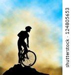 A Mountain Biker Silhouette...