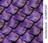 3d abstract seamless snake skin ... | Shutterstock . vector #124809187