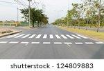Zebra Traffic Walk Way In The...