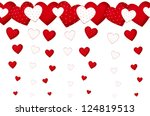 valentine s card with falling... | Shutterstock . vector #124819513