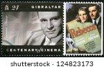 gibraltar   circa 1995  a stamp ... | Shutterstock . vector #124823173