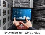 smart hand press on digital... | Shutterstock . vector #124827037