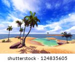 Hawaiian paradise - the tropical island - stock photo