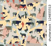farm theme seamless pattern | Shutterstock .eps vector #124855513