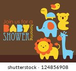baby shower design. vector illustration - stock vector