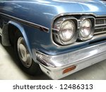 close up of vintage car silver  | Shutterstock . vector #12486313