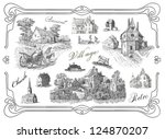 old village illustration | Shutterstock . vector #124870207