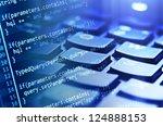 program code and computer... | Shutterstock . vector #124888153