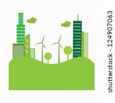 go green city. with buildings... | Shutterstock .eps vector #124907063