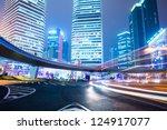night scene of modern city | Shutterstock . vector #124917077