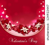 valentine's day card with... | Shutterstock .eps vector #124922447