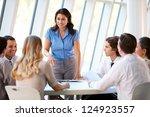 business people having board... | Shutterstock . vector #124923557