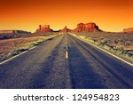 Road To Monument Valley At...