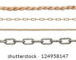 collection of  chains and ropes ... | Shutterstock . vector #124958147