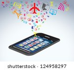 wi fi and wireless icon. | Shutterstock .eps vector #124958297