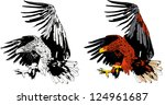 eagle attack   Shutterstock .eps vector #124961687