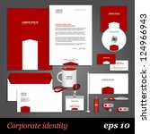 red corporate identity template ...