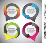 abstract speech bubbles | Shutterstock .eps vector #124968263