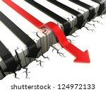 3d arrow success concept