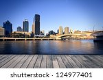Brisbane city in the afternoon - stock photo