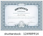 Vector illustration of detailed certificate - stock vector