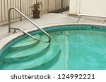 Swimming pool is old and dirty. - stock photo