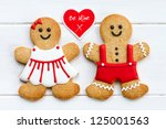 gingerbread couple | Shutterstock . vector #125001563