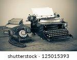 Vintage Phone  Old Typewriter ...