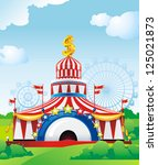 abstract circus tent. classical ... | Shutterstock .eps vector #125021873