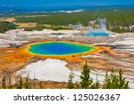 grand prismatic spring in... | Shutterstock . vector #125026367