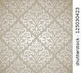 damask vintage seamless pattern ... | Shutterstock .eps vector #125030423