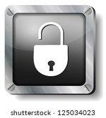 steel open lock icon
