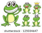 illustration of frogs on a... | Shutterstock . vector #125034647