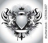 heraldry grunge crest | Shutterstock .eps vector #125036207
