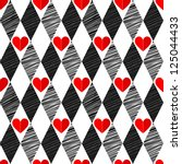 black and white  red love... | Shutterstock .eps vector #125044433