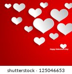 design template   eps10 heart... | Shutterstock .eps vector #125046653