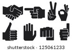human hand sign collection ...