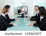 group of male and female...   Shutterstock . vector #125063297