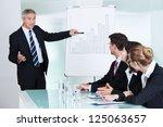 a senior business executive... | Shutterstock . vector #125063657
