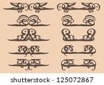vector vintage decorative... | Shutterstock .eps vector #125072867