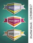 badges. design elements. labels ... | Shutterstock .eps vector #125080817