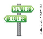 New or old life sign illustration design over white - stock photo