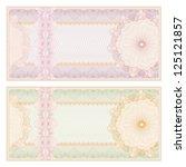 voucher template with guilloche ... | Shutterstock .eps vector #125121857